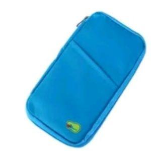 Handbags - blue travel passport document holder travel wallet